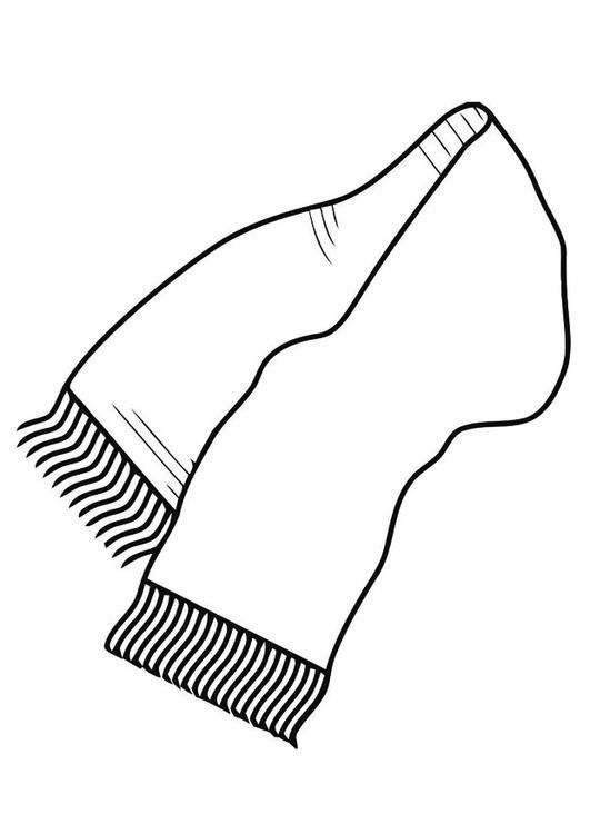 Картинки раскраски шарф для детей