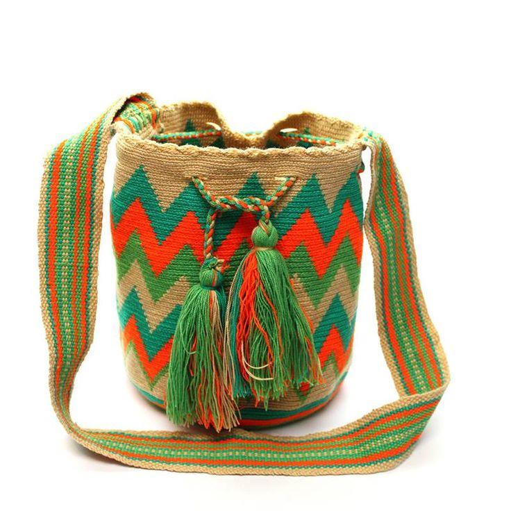 OrangeGreen Wayuu Mochila