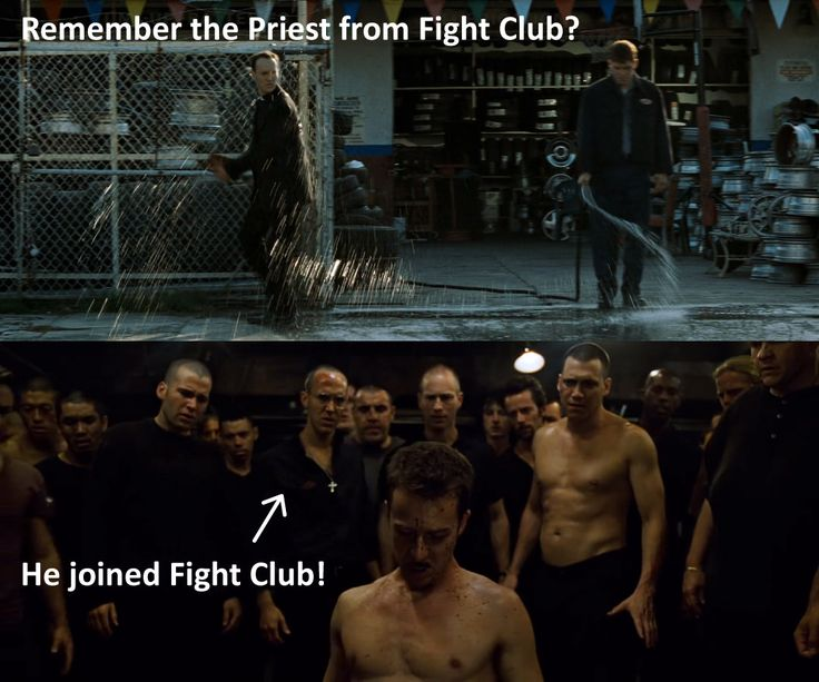 Holy Crap! The priest in Fight Club joined Fight Club! http://ift.tt/2AG6M5y