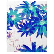 Blue flowers jigsaw puzzle