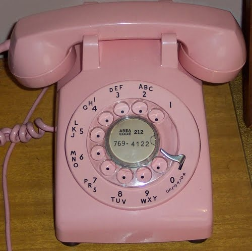 Rotary phones, of course.: Rosa Pink, Dial Telephone, Pink Vintage, Vintage Telephone, Rotary Phones, 50S Remember, Green Phones, Pink Phones,  Dial Phones