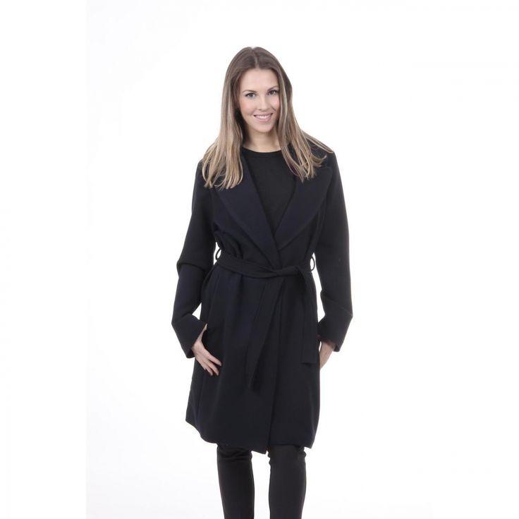V 1969 Italia Womens Coat CAPPOTTO VESTAGLIA TESS. SUPERDUKE BLU NAVY