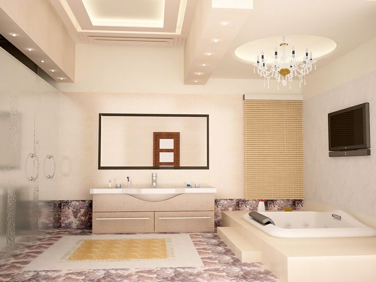 Luxurious Master Bathroom Interior Design  Click this link to view more details - http://interiors.ApnaGhar.co.in/ Call Toll-Free - 1800-102-9440