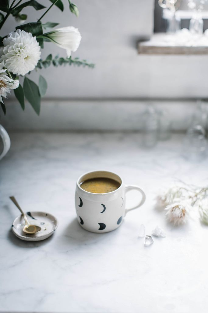 Golden Milk Cocoa:    2 1/4 cups milk, 1/4 cup cocoa (sifted), 2 T turmeric,1 T ashwagandha powder, 1/2 cup) honey , 1 T coconut oil or ghee, divied (1/2 T per mug)