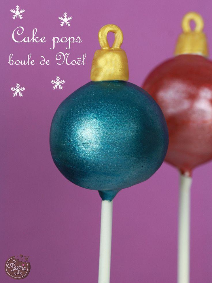 cake pop boule de noel