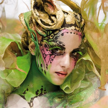 Great Halloween makeup look. Could translate into a fairy or butterfly, for example.