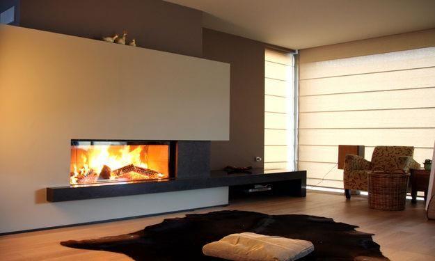 lareiras modernas com recuperador de calor - Pesquisa Google                                                                                                                                                      Mais