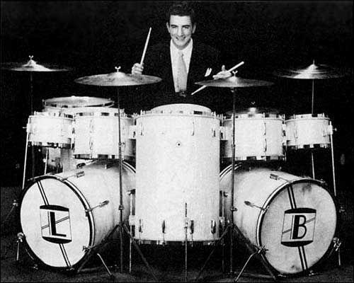 If I ever played a double bass monster kit, I'd anchor it with a big, honkin' cocktail drum as Louis Bellson did--IN THE NINTEEN FIFTIES!