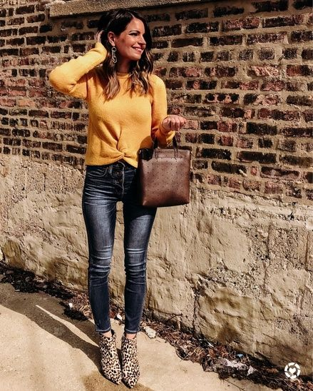 00398cc1ad13f The perfect fall outfit with ALL the trends! Marigold yellow ...