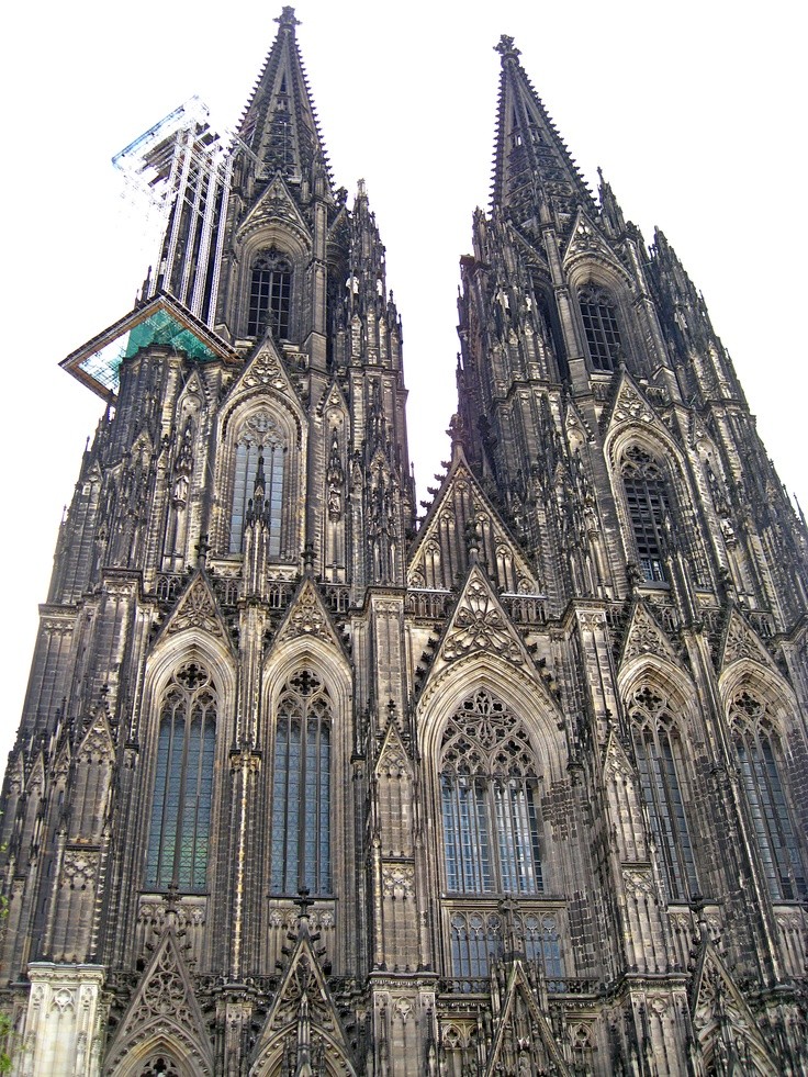 Cologne Cathedral, one of the world's largest churches, which is 157 metres tall.