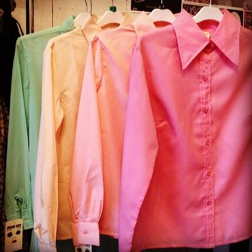 St. Michael women's shirts in pastel colours at £15!