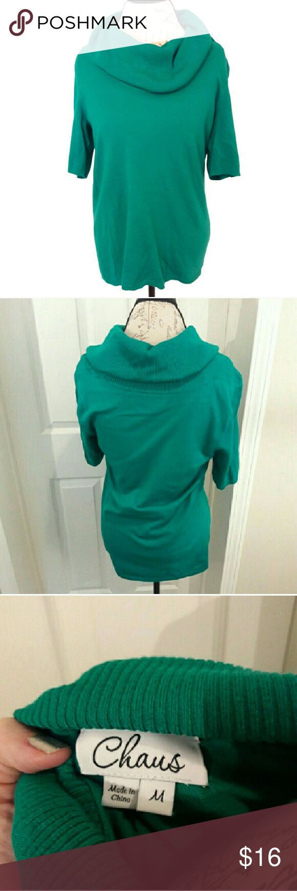 Cowl neck top by Chaus So beautiful! Has a nice cowl neck. Very soft and lightweight. Teal in color. Measurements provided in pics above. From a smoke and pet free home. Fast shipping! Office- Vacation - Wedding - Fun - Dress up- date night - cruise - spring- fall - winter 💜 IF YOU LIKE MY ITEMS, please FOLLOW ME to see NEW ARRIVALS that are added weekly! 💜 Chaus Tops