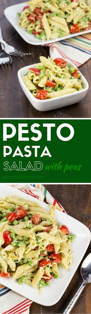 Pesto Pasta Salad with Peas | Recipe | Pesto Pasta Salad, Pesto Pasta ...