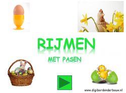 Digibordles: Rijmen met pasen http://digibordonderbouw.nl/index.php/taal1/rijmen3