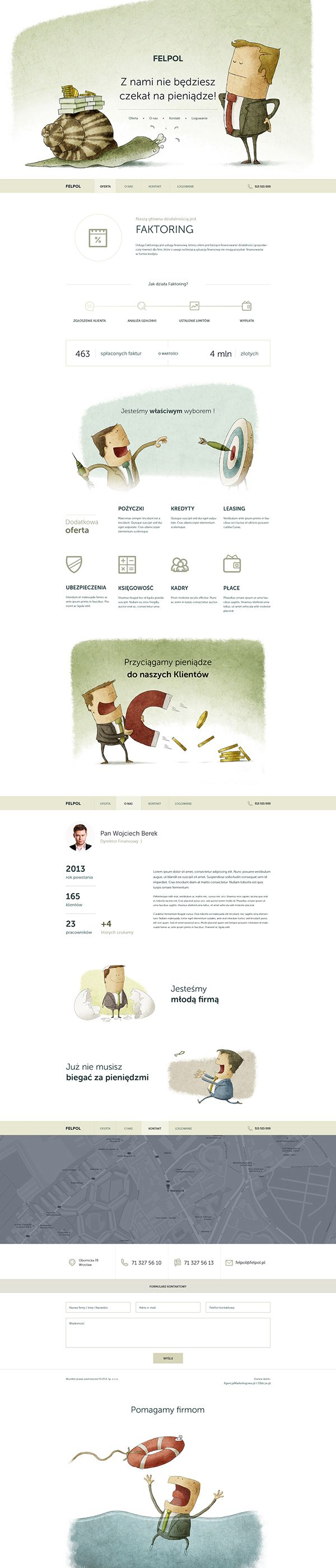 Finance company website's comic version :)