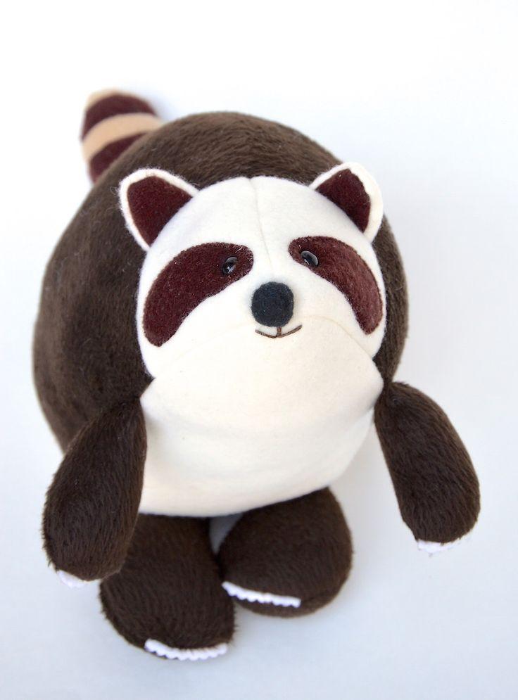 Raccoon Softie Tutorial + Free Pattern   an ikat bag pattern