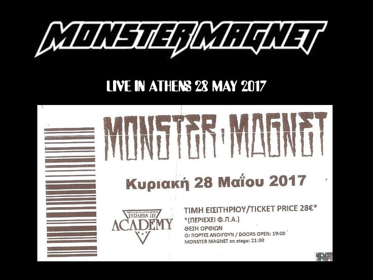 MONSTERMAGNET LIVE IN ATHENS 28 MAY 2017