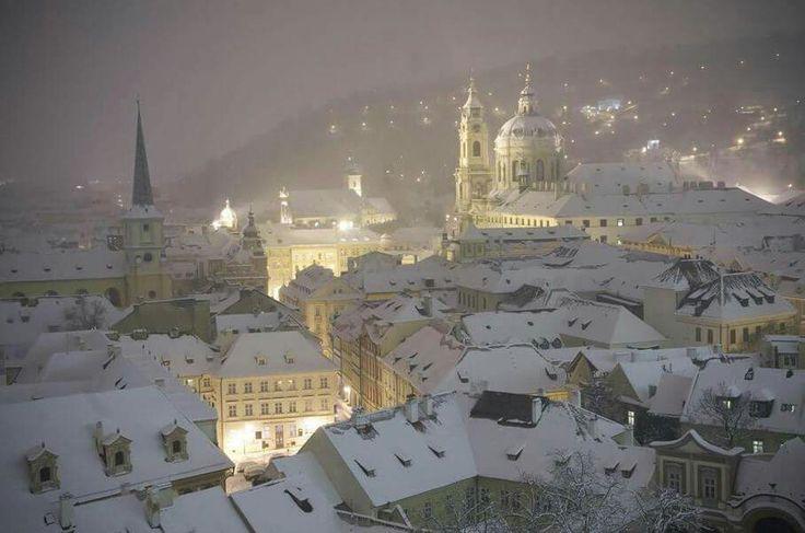 Prag i Vinterlandskab.