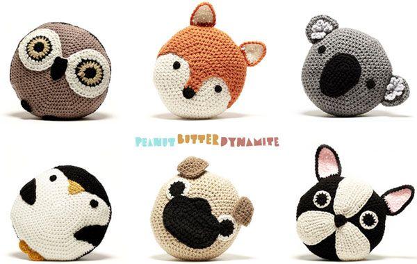 Cojines de crochet para niños