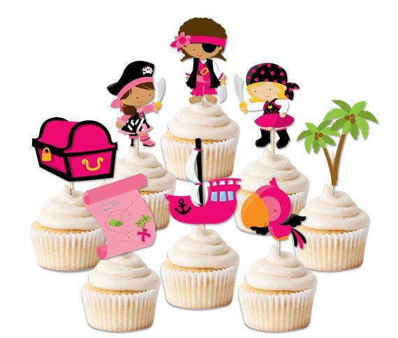 Die besten 17 ideen zu piraten geburtstags cupcakes auf for Pinke party deko