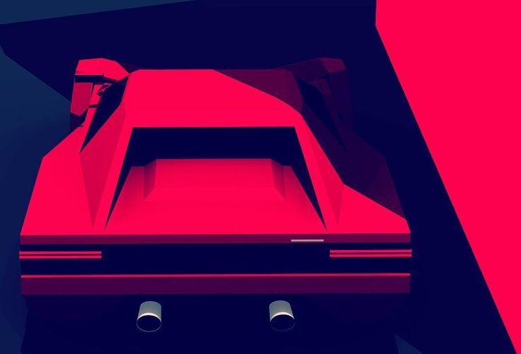 "gashetka: "" 1984-1991   Ferrari Testarossa   Design by Pininfarina   Source """
