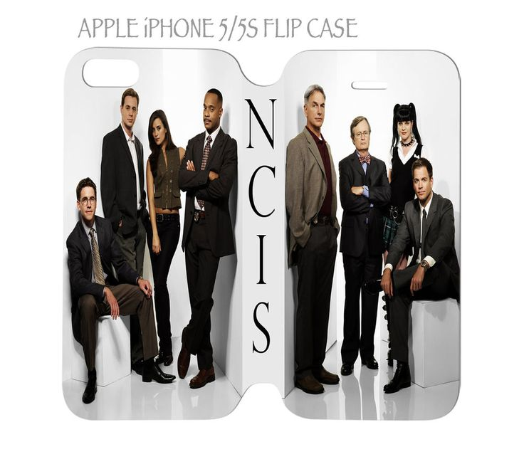 iPhone 5 / 5s Flip Case Folio Cover NCIS Cast TV Show #QuinnCafe