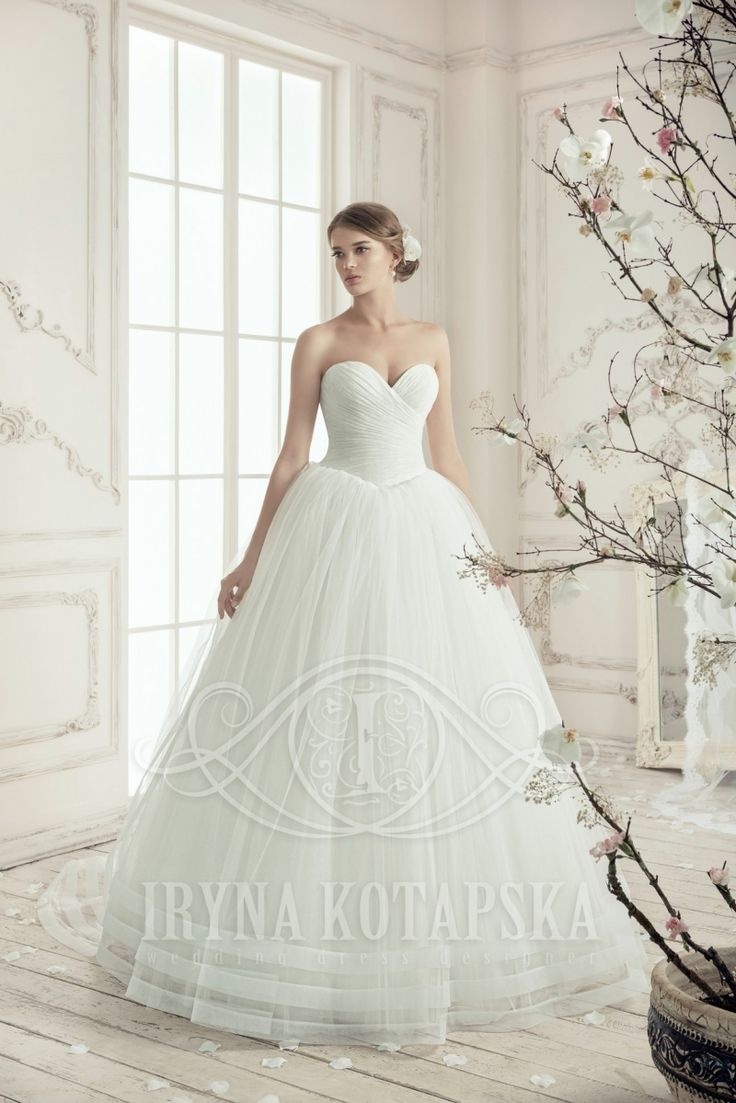 BB1511 beautuful understated elegance by European designer Iryna Kotapska. In store now in Albany Village. See more gowns on our website http://bridalandball.co.nz/