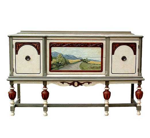 Painted Buffets And Sideboards | Commissioned Hand Painted Buffet By Judith  Rickenbacher
