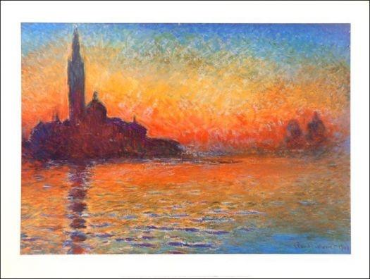 San Giorgio Maggiore al tramonto - C. Monet