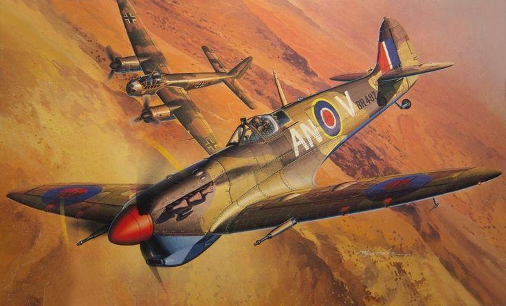Spitfire Mk Vb Trop vs Junkers Ju 88, by Masao Satake ...