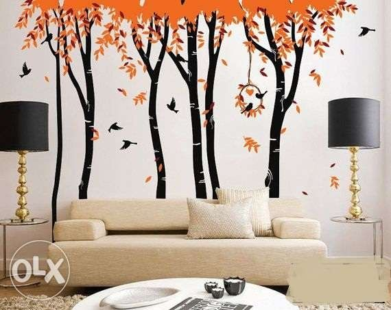 image result for wall painting designs for hall vinyl on wall stickers for hall id=44233