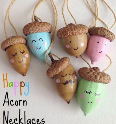Aranyos nyakláncok makkokból - termés ékszerek / Mindy -  kreatív ötletek és dekorációk minden napra