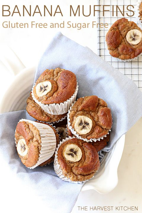 Gluten Free Banana Muffins - deliciously light and fluffy and totally wonderfully healthy @theharvestkitchen.com