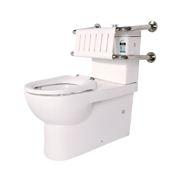 Linkcare White Assisted Living Toilet Suite With Backrest #Linkware # Disabled #Assisted #Backrest