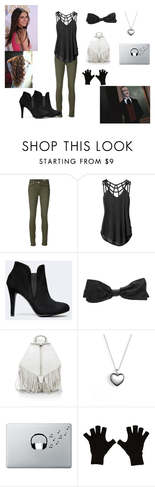 """""""Huntress """"Casual Day At The Wayne's"""""""" by mundca ❤ liked on Polyvore featuring rag & bone/JEAN, RVCA, Chanel, Rebecca Minkoff, Pandora, Music Notes and Billabong"""