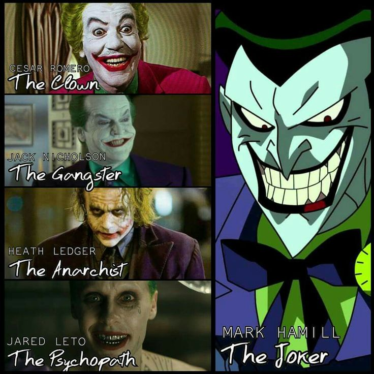 Mark Hamill is the true Joker.<<< technically the real Joker is the one from the comic books