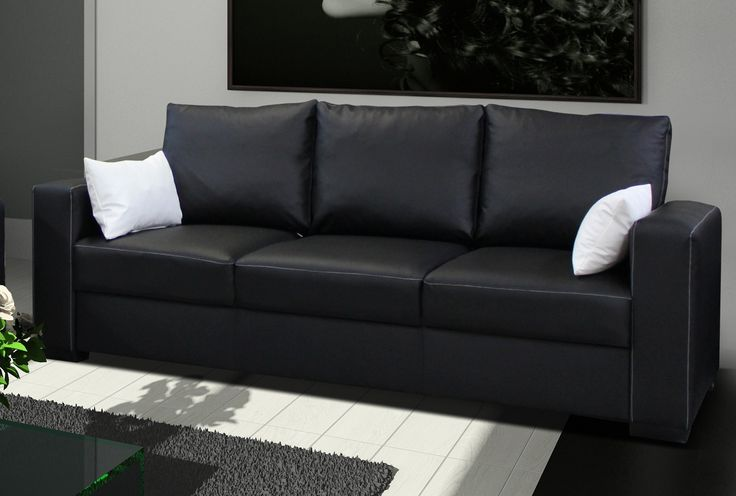 Canapé simili cuir pas cher - Fauteuils & Canapés OLENDO
