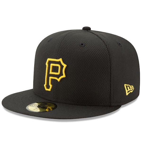 huge discount 9aecc a7bd2 Men s Pittsburgh Pirates New Era Black Diamond Era 59FIFTY Fitted Hat