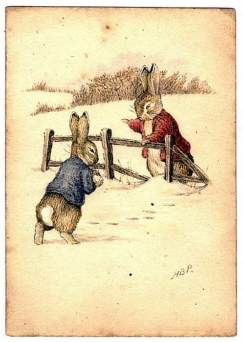 pagewoman:  Beatrix Potter: Bunnies in Winter