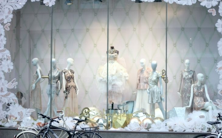 Miss Selfridge Window Display Christmas Party Dresses Oxford Street Flagship Store London