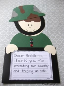 Soldier Boy and Girl- Craft and Writing Templates....cute!