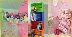 Ideas para guardar los muñecos de peluche y carritos de los niños