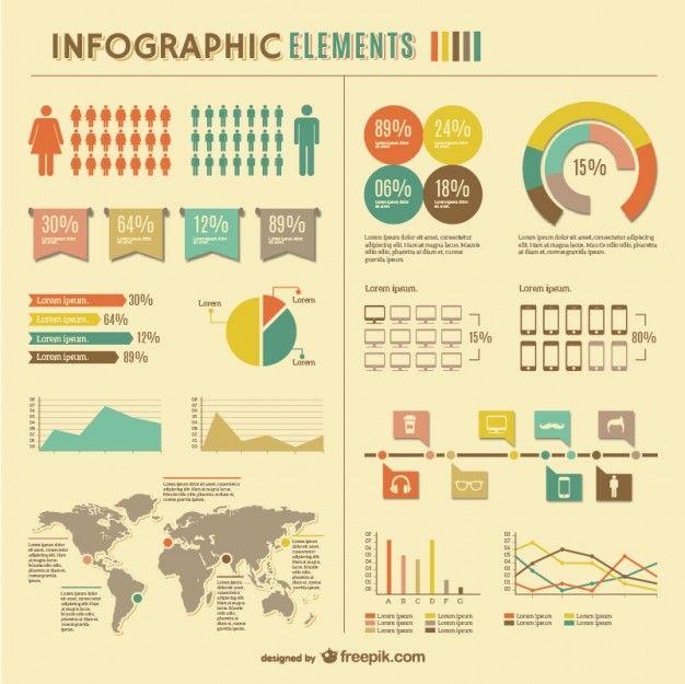 Estadísticas mundiales infográficas diseño libre