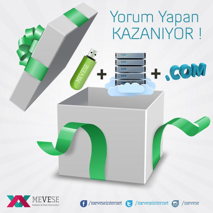 Facebook Sayfamızdaki Yarışmaya Katılanlar Kazanıyor ! http://www.facebook.com/meveseinternet #cekilis #yarisma #hosting #domain #flashbellek #cekiliszamani