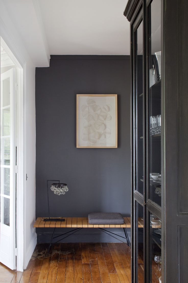 Slate blue wall paint - Dark Gray Wall Rue Magazine June 2012 Issue Photography By Pierre Verger Interior Design By Solenne De La Fouchardiere