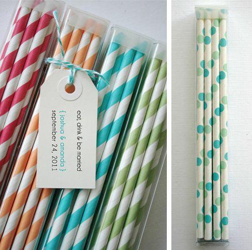 striped straws: Tags Ideas, Party'S Wedding Ideas, Cute Wedding Favors, Parties Wedding Ideas