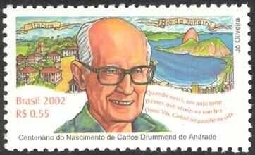 Resultado de imagem para selo de Carlos Drummond de Andrade