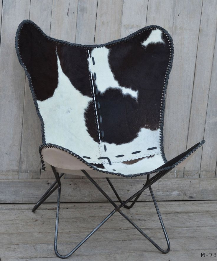 COWHIDE BUTTERFLY CHAIR BLACK