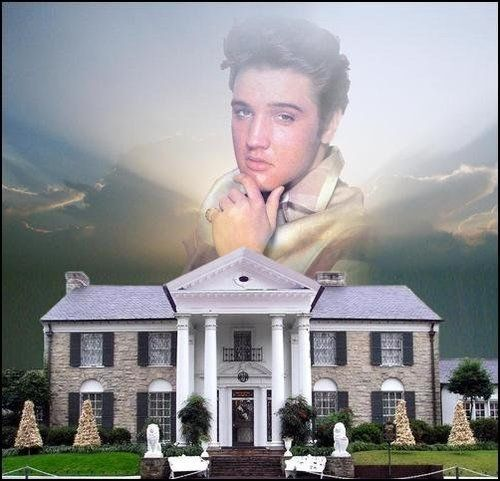 "( 2015 IN MEMORY OF ★ † ♪♫♪♪ ELVIS PRESLEY "" Rock & roll / pop / rockabilly / country / blues / gospel / rhythm & blues "" Elvis his beloved Graceland "" ) ★ † ♪♫♪♪ Elvis Aaron Presley - Tuesday, January 08, 1935 - 5' 11¾"" - Tupelo, Mississippi, USA. Died; Tuesday, August 16, 1977 (aged of 42) Resting place Graceland, Memphis, Tennessee, USA. Cause of death: (cardiac arrhythmia)."