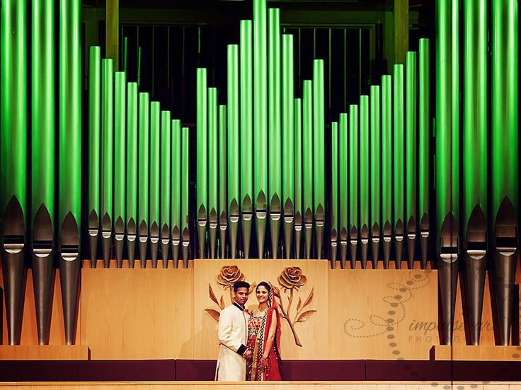 On the Jack Singer Concert  Hall stage with the organ backdrop.